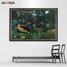 Dream by Surrealist <b>Artist</b> Henri Rousseau <b>Canvas</b> Print <b>Painting</b> ...