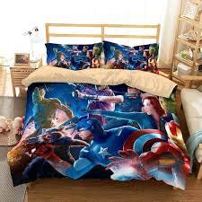 avengers full bedding set customize avengers infinity war bedding set duvet cover set bedroom set three