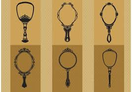 ornate hand mirror drawing. Hand Drawn Vintage Mirror Vectors Ornate Drawing H