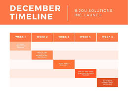 Gantt Chart Event Timeline Orange Timeline Gantt Chart Templates By Canva