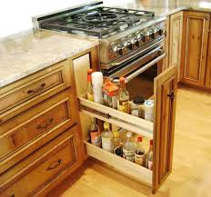 Cabinets And Small Storage Kitchen Design With Brown Color Design