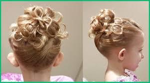 Coiffure Demoiselle Honneur Enfant Cheveux Frisé 48851
