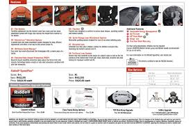 Riddell Helmet Fitting Chart Football Helmet Fitting Chart