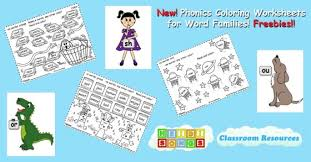 Printable worksheets for teaching students to read and write basic words that begin with the letters br, cr, dr, fr, gr, pr, and tr. Phonics Coloring Worksheets For Word Families Freebies