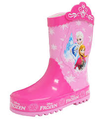 disney frozen elsa anna crown little girl s pink rain boots