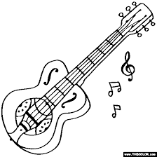 Small Picture Musical Instruments Coloring Pages Page 2