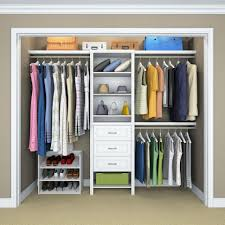 Wardrobe Closets Closetmaid Impressions In W White Standard Kit