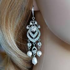 new 180 best bridal pearl earrings images on for pearl chandelier earrings
