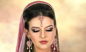 asian stani indian arabic bridal makeup pink and gold smokey eye contemporary wedding look