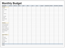 Budget Monthly Expenses Spreadsheet Monthly Expense Spreadsheet Template Excel Free Expenses