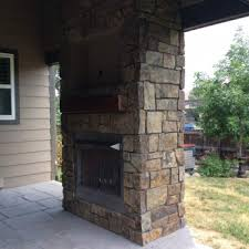 outdoor gas fireplace located in superior co