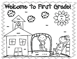 back to school coloring page sheet grade ring pages welcome kindergarten first day high pdf