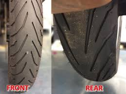 Why Do Motorcycle Front And Rear Tires Have Opposite Tread