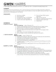 waitress sample resume waiter resume sample waitress resume example sample resume with job