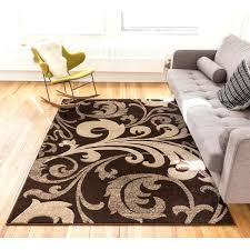 fleur de lis rugs scrolls grant hand carved fl brown and beige area fleur de lis