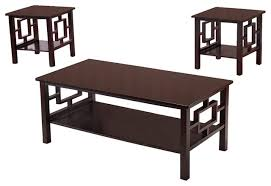 fanchon 3 piece wood coffee table and