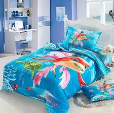 ocean style nursery bedroom with linen undersea cartoon girls bedding set ocean twin size bedspread