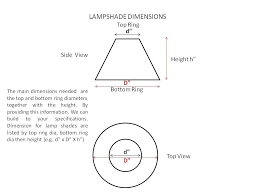 How To Measure A Lamp Shade Inspiration How To Measure A Lamp Shade Magnificent Measuring Lamp Shades What