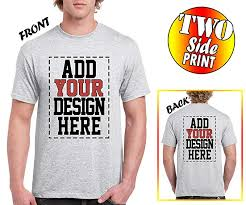 Make Your On Shirt Amazon Com Custom 2 Sided T Shirts Design Your Own Shirt Front