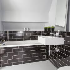 Good Black Metro Tile Bathroom