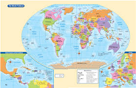 Map Of The World With Longitude And Latitude Lines And