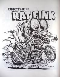 Small Picture Nostalgia on Wheels 1960s Rat Fink Monster Coloring Book