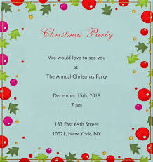 Christmas Invitation Card Christmas Decoration Animated