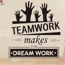 office wall stickers. Office Wall Stickers Vinyl Decal Art - Mural Decor Sticker Teamwork Makes