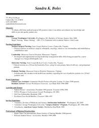 Nursing Internship Resume Resume Templates Design For Job