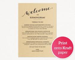 Welcome Card Templates Wedding Weekend Itinerary Wedding Templates And