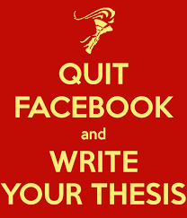 QUIT FACEBOOK and WRITE YOUR THESIS Keep Calm o Matic