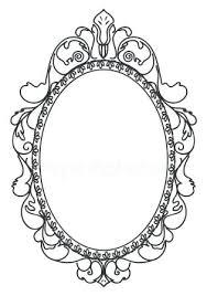 Vintage frame design oval Laurel Wreath Beautiful Black Vintage Frame On White Background Victorian Oval Mirror Stock Illustration Blushrco Beautiful Black Vintage Frame On White Background Victorian Oval