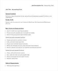 Sample Resume Of Accounting Clerk Accounts Payable Responsibilities