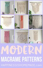 Free Macrame Patterns Interesting 48 Modern Macrame Patterns Happiness Is Homemade