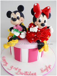Walt Disney Novelty Cakes With Mickey And Minnie Kids Birthday