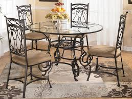 glass metal dining table in round top room custom sets inspirations 16