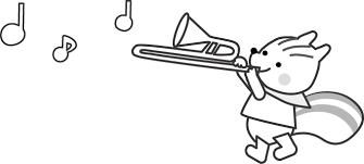 楽器音楽隊音楽会のイラスト無料イラスト素材3