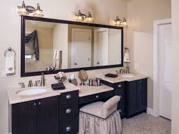double bathroom vanities with makeup area home design ideas gold within 11