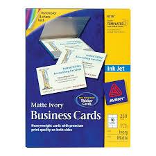 Avery Business Cardswhite