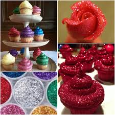 Diy Edible Glitter Frosting Cupcakes