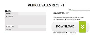 Sale Receipt For Car Free Motor Trade Car Sales Receipt Flipping Cars