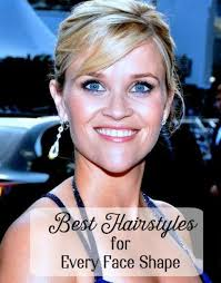 diffe face shapes including reese witherspoon s famous heart shape look best when paired with
