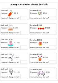Subtraction Worksheets With Money Worksheets for all | Download ...