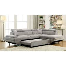 convertible sectional sofa bed. Delighful Sectional Furniture Of America Sleet Flannelette Convertible Sectional In Gray Inside  Sofa Plan 9 For Bed A