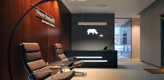 design for office. Pleasant And Precious Lobby Area Interior Design Of Stone Harbor Office In London For N