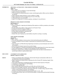 Tool Design Engineer Sample Resume Tool Design Engineer Resume Samples Velvet Jobs 1