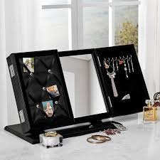 Modern Memo Board Contemporary 10000in100 Trifold Tabletop Vanity Mirror Jewelry Storage 75