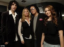 gene simmons son 2015. kiss star gene simmons (second right) with (from left) his son nick 2015 i