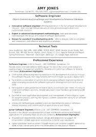 Software Engineer Resume Samples Classy Software Engineer Resume Format Penzapoisk