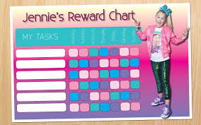 Lol Sticker Chart Jojo Siwa Rewards Chart Reward Chart Kids Printable